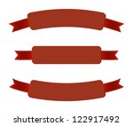a set of red vector promo... | Shutterstock .eps vector #122917492