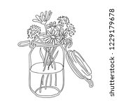 simple drawing. bouquet of... | Shutterstock .eps vector #1229179678