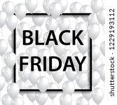 illustration of black frame for ... | Shutterstock . vector #1229193112