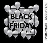 illustration of black frame for ... | Shutterstock . vector #1229193178