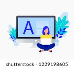 copyright  blogging flat... | Shutterstock .eps vector #1229198605