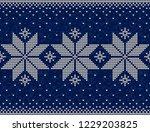 blue and white christmas...   Shutterstock .eps vector #1229203825