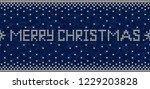 blue and white  merry christmas ...   Shutterstock .eps vector #1229203828