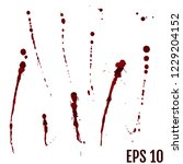 dripping blood isolated on... | Shutterstock .eps vector #1229204152