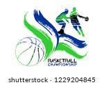 basketball vector illustration  ... | Shutterstock .eps vector #1229204845