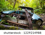 rusty old wreck car abandoned...   Shutterstock . vector #1229214988