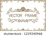 frame border template ... | Shutterstock .eps vector #1229240968