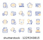 feedback line icons. set of... | Shutterstock .eps vector #1229243815