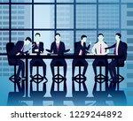 vector illustration. team... | Shutterstock .eps vector #1229244892