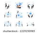 social media and business... | Shutterstock .eps vector #1229250985