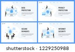 data privacy protection and... | Shutterstock .eps vector #1229250988