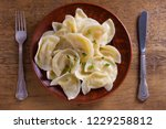 dumplings  filled with mashed...   Shutterstock . vector #1229258812