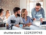 business people giving some new ... | Shutterstock . vector #1229259745