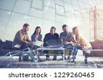 business people connected on... | Shutterstock . vector #1229260465