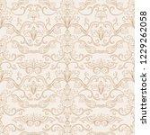 vintage flourishes seamless... | Shutterstock .eps vector #1229262058