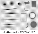 set of round and square shadow... | Shutterstock .eps vector #1229265142