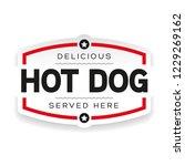 hot dog vintage label sign | Shutterstock .eps vector #1229269162