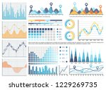 infographics and flowcharts ... | Shutterstock .eps vector #1229269735