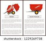 grain trailer and baler set of...   Shutterstock .eps vector #1229269738