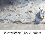 concreate road work car liquid... | Shutterstock . vector #1229270005
