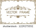 frame border template ... | Shutterstock .eps vector #1229275552