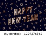 happy new year. greeting card... | Shutterstock .eps vector #1229276962