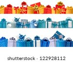 collection of holiday banners... | Shutterstock .eps vector #122928112