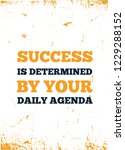 motivational quote about agenda.... | Shutterstock .eps vector #1229288152
