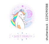vector sticker or icon with... | Shutterstock .eps vector #1229290588