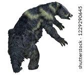 eremotherium sloth tail 3d... | Shutterstock . vector #1229290645