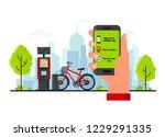 bike rental service concept... | Shutterstock .eps vector #1229291335