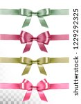 big set of colorful gift bows... | Shutterstock .eps vector #1229292325