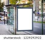 vertical bus stop advertisement ... | Shutterstock . vector #1229292922