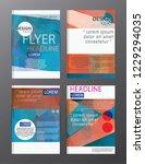 flyer design business annual... | Shutterstock .eps vector #1229294035