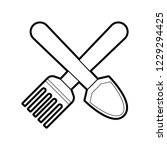 simple gardening tools icon | Shutterstock .eps vector #1229294425