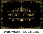 golden invitation floral frame... | Shutterstock .eps vector #1229312302