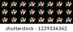 santa on sleigh with reindeer... | Shutterstock .eps vector #1229336362