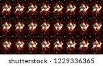 santa on sleigh with reindeer...   Shutterstock .eps vector #1229336365
