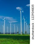 white wind turbine. subaltern's ... | Shutterstock . vector #122934835