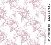 flower doodles seamless pattern.... | Shutterstock .eps vector #1229357662