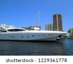 yacht on intra coastal waterway | Shutterstock . vector #1229361778