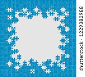puzzle background  banner ... | Shutterstock .eps vector #1229382988