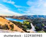 view of the encino reservoir...   Shutterstock . vector #1229385985