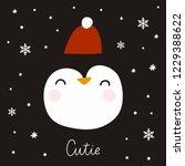 happy cartoon penguin. ... | Shutterstock .eps vector #1229388622