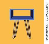 nightstand. furniture and... | Shutterstock .eps vector #1229393398