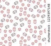 dark red vector seamless ... | Shutterstock .eps vector #1229397148