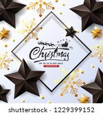 vector merry christmas and... | Shutterstock .eps vector #1229399152