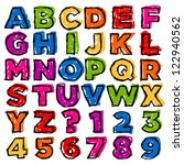 colorful doodle alphabet and... | Shutterstock .eps vector #122940562