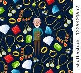 jeweler or jewelry pattern... | Shutterstock .eps vector #1229424652