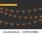 christmas decorations  isolated ... | Shutterstock .eps vector #1229425882